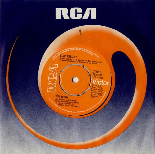 """Elvis Presley Way Down - 4pr 7"""" vinyl single (7 inch record) UK ELV07WA242297"""