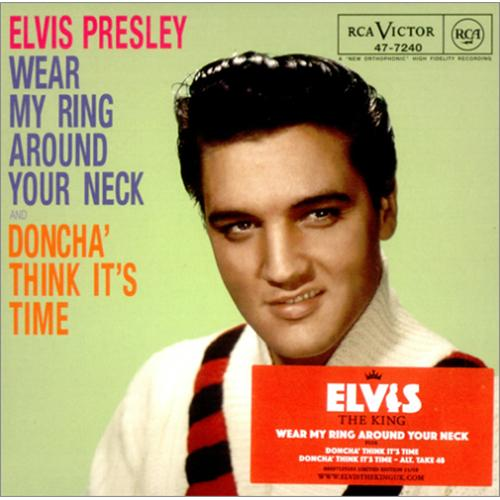 "Elvis Presley Wear My Ring Around Your Neck CD single (CD5 / 5"") UK ELVC5WE410774"