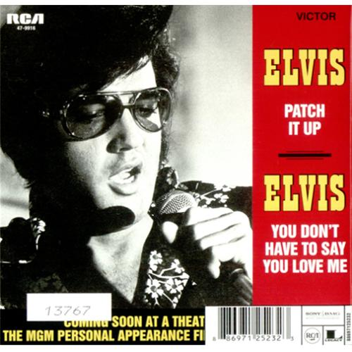 """Elvis Presley You Don't Have To Say You Love Me CD single (CD5 / 5"""") UK ELVC5YO410782"""