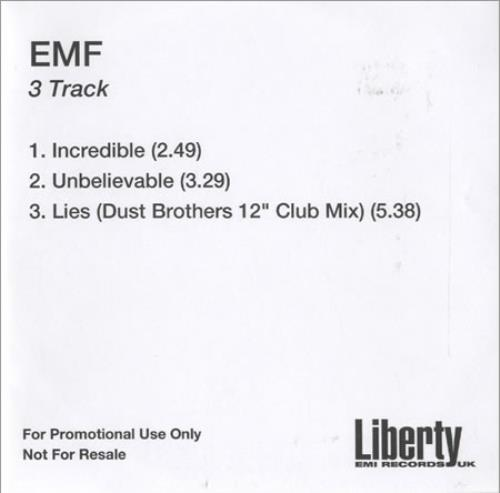 EMF 3 Track CD-R acetate UK EMFCRTR217717