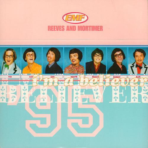 """EMF I'm A Believer 7"""" vinyl single (7 inch record) UK EMF07IM642719"""