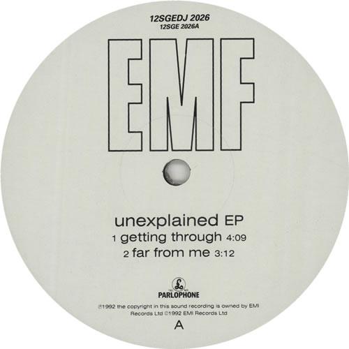 "EMF Unexplained EP 12"" vinyl single (12 inch record / Maxi-single) UK EMF12UN168220"