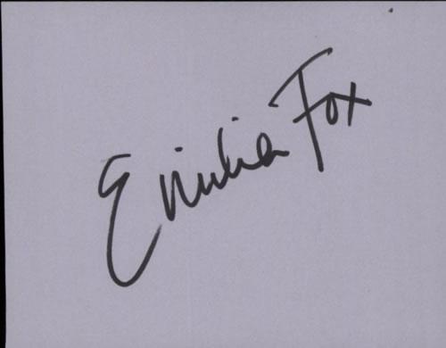 Emilia Fox Page From An Autograph Book memorabilia UK E9IMMPA602012
