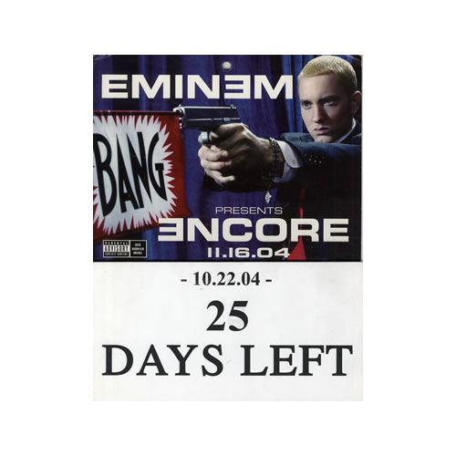 Eminem Encore - Countdown Calendar US Promo display (559466)