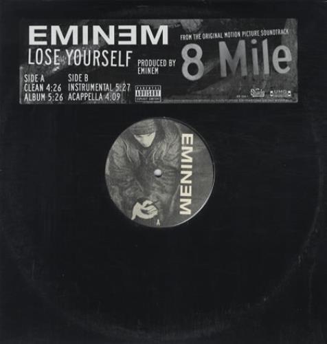 "Eminem Lose Yourself US Promo 12"" vinyl single (12 inch ..."