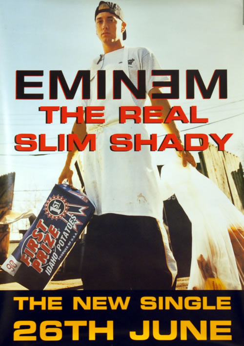 Eminem The Real Slim Shady & Marshall Mathers LP - Pair Of