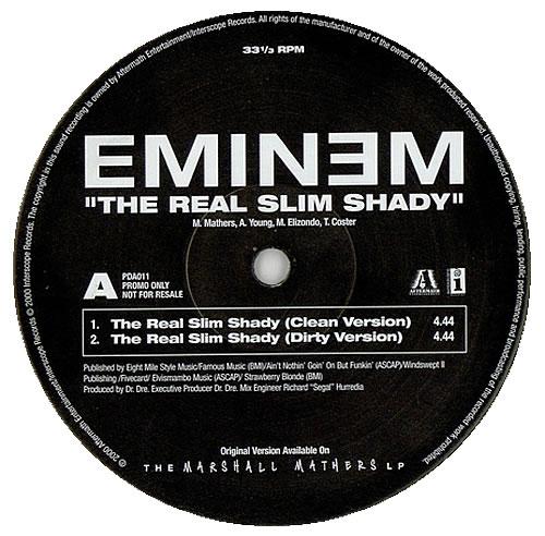 Eminem The Real Slim Shady UK Promo 12