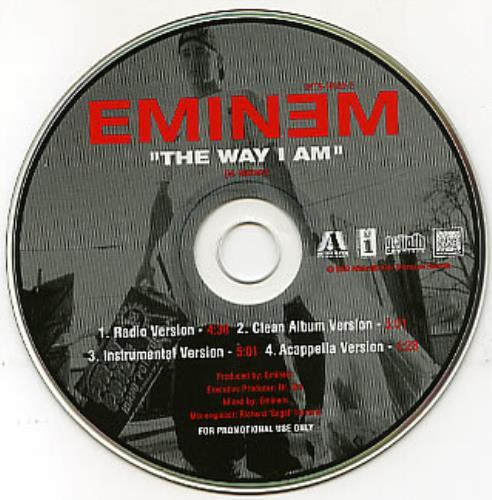"Eminem The Way I Am CD single (CD5 / 5"") US INEC5TH165315"