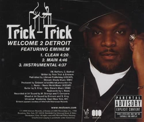 "Eminem Welcome 2 Detroit CD single (CD5 / 5"") US INEC5WE344762"