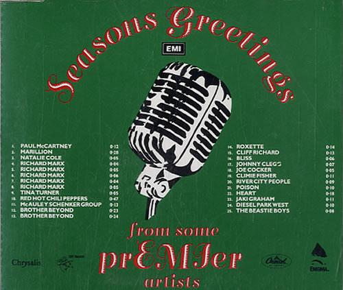 EMI Records Seasons Greetings CD album (CDLP) UK EPVCDSE64672