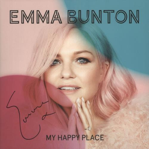 Emma Bunton My Happy Place - Pink Vinyl, Numbered + Autographed vinyl LP album (LP record) UK EBULPMY726042