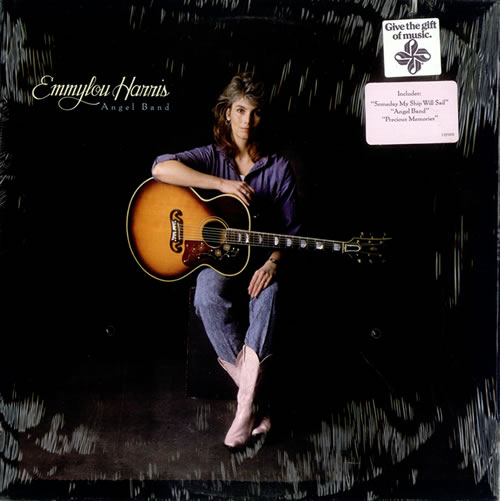 Emmylou Harris Angel Band - Hype Sticker vinyl LP album (LP record) US ELHLPAN522863