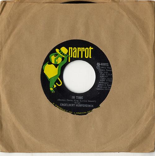 "Engelbert Humperdinck (Singer) In Time 7"" vinyl single (7 inch record) US HDK07IN619269"