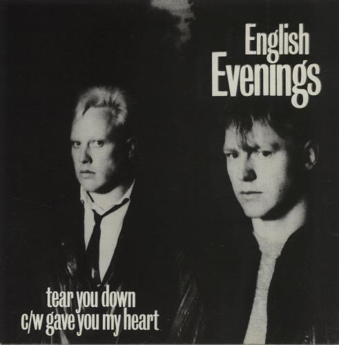 "English Evenings Tear You Down 7"" vinyl single (7 inch record) UK O7H07TE682737"