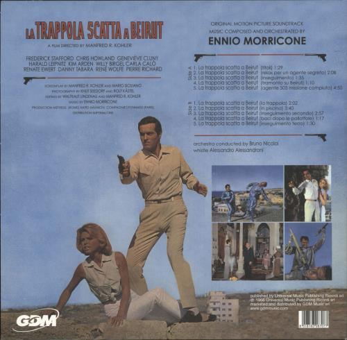 """Ennio Morricone La Trappola Scatta A Beirut 10"""" vinyl single (10"""" record) Italian ENM10LA741923"""