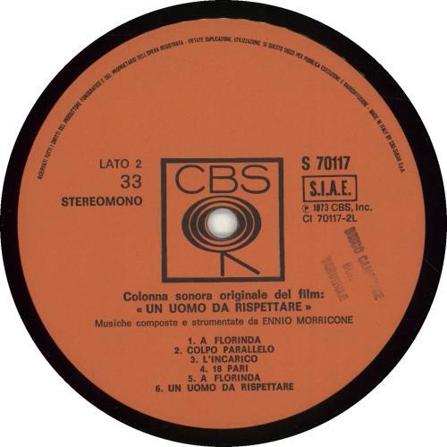 Ennio Morricone Un Uomo Da Rispettare vinyl LP album (LP record) Italian ENMLPUN697203