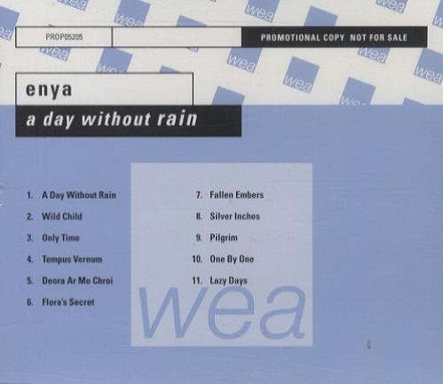 Enya A Day Without Rain CD album (CDLP) German ENYCDAD172192