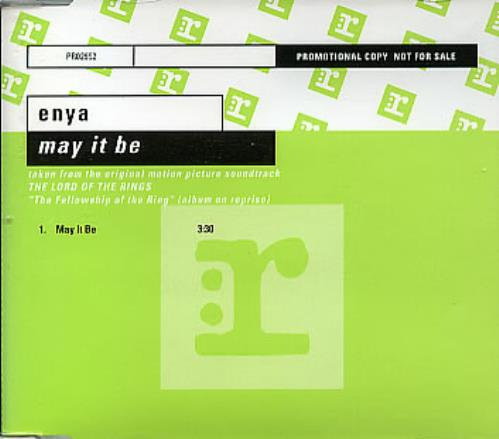 "Enya May It Be CD single (CD5 / 5"") German ENYC5MA205495"