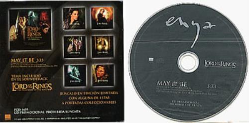 """Enya May It Be CD single (CD5 / 5"""") Mexican ENYC5MA244986"""