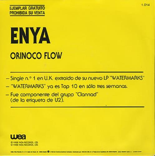 "Enya Orinoco Flow 7"" vinyl single (7 inch record) Spanish ENY07OR53202"