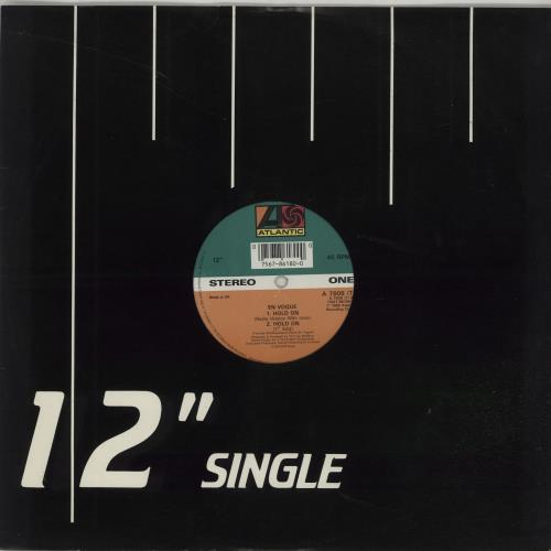 "En Vogue Hold On 12"" vinyl single (12 inch record / Maxi-single) UK ENV12HO660364"