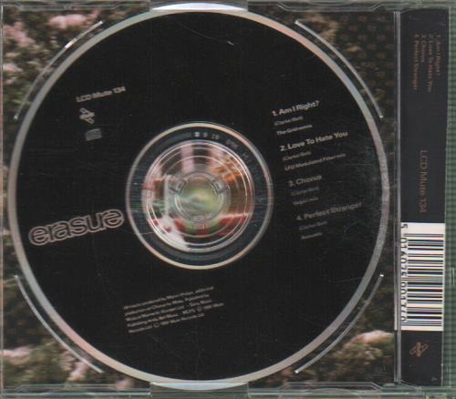 "Erasure Am I Right? - Remix CD single (CD5 / 5"") UK ERAC5AM09041"