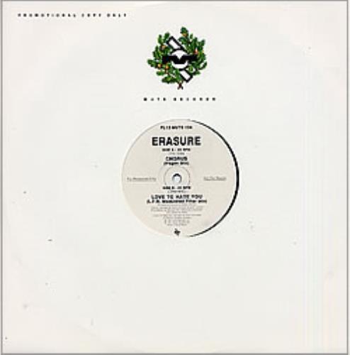 "Erasure Chorus / Love To Hate You 12"" vinyl single (12 inch record / Maxi-single) UK ERA12CH00486"