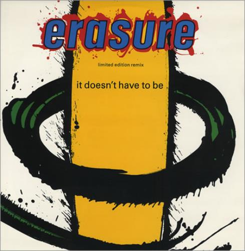 """Erasure It Doesn't Have To Be - Cement Mix 12"""" vinyl single (12 inch record / Maxi-single) UK ERA12IT05770"""