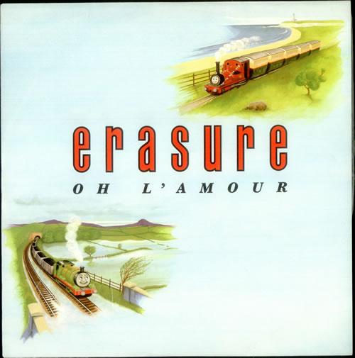 "Erasure Oh L'amour 12"" vinyl single (12 inch record / Maxi-single) UK ERA12OH01914"