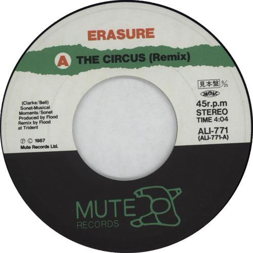 "Erasure The Circus Remix 7"" vinyl single (7 inch record) Japanese ERA07TH272124"