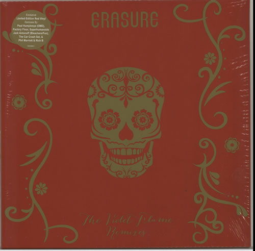 "Erasure The Violet Flame Remixes - RSD 15 - Red Vinyl 12"" vinyl single (12 inch record / Maxi-single) UK ERA12TH628007"
