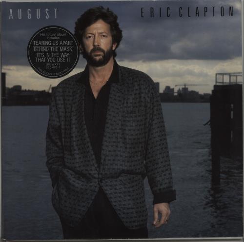 Eric Clapton August - Stickered sleeve vinyl LP album (LP record) UK CLPLPAU665738