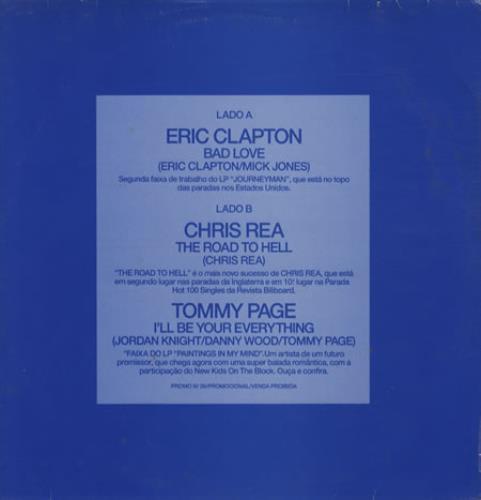 "Eric Clapton Bad Love 12"" vinyl single (12 inch record / Maxi-single) Brazilian CLP12BA123310"