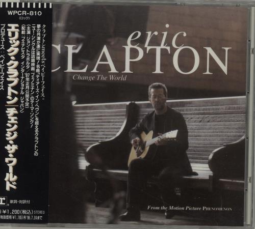 "Eric Clapton Change The World CD single (CD5 / 5"") Japanese CLPC5CH66762"