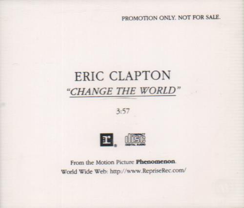 "Eric Clapton Change The World CD single (CD5 / 5"") US CLPC5CH68739"