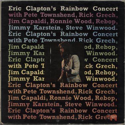 Eric Clapton Eric Clapton's Rainbow Concert vinyl LP album (LP record) UK CLPLPER105254
