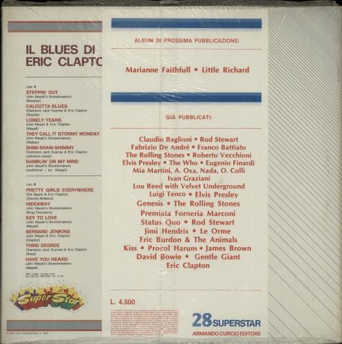 Eric Clapton Il Blues Di Eric Clapton - Sealed vinyl LP album (LP record) Italian CLPLPIL652289