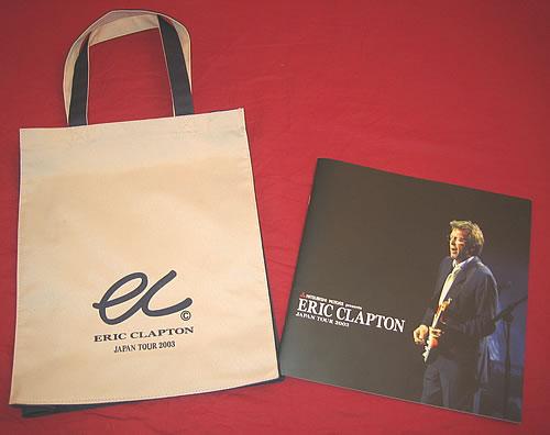 Eric Clapton Japan Tour 2003 + Canvas Bag tour programme Japanese CLPTRJA352956