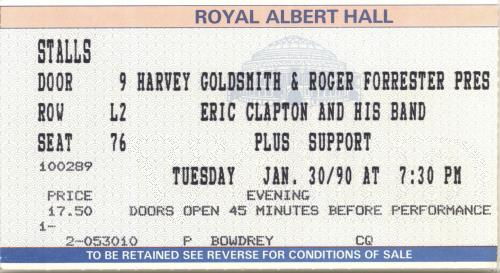 Eric Clapton Journeyman + ticket stub tour programme UK CLPTRJO463299