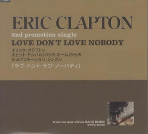 "Eric Clapton Love Don't Love Nobody - Sealed CD single (CD5 / 5"") Japanese CLPC5LO346717"