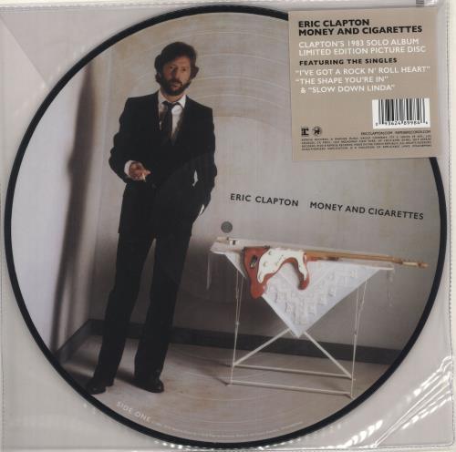 Eric Clapton Money And Cigarettes picture disc LP (vinyl picture disc album) US CLPPDMO739923