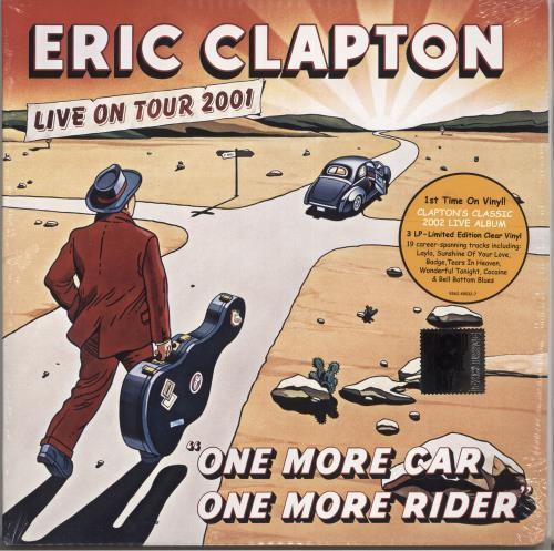 Eric Clapton One More Car, One More Rider - Clear Vinyl - Sealed 3-LP vinyl record set (Triple Album) US CLP3LON726468