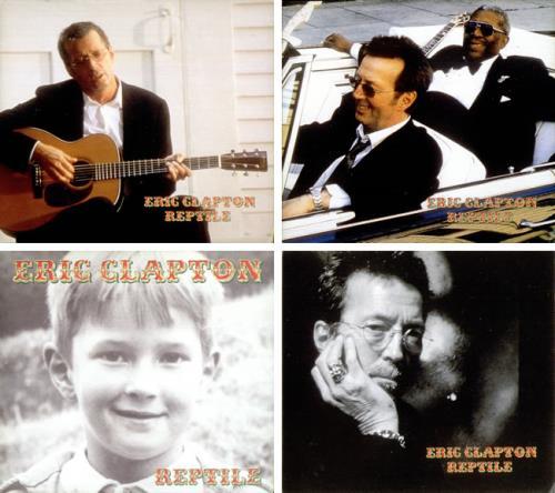 Eric Clapton Reptile - Set Of 4 Promo Postcards handbill Taiwanese CLPHBRE528830