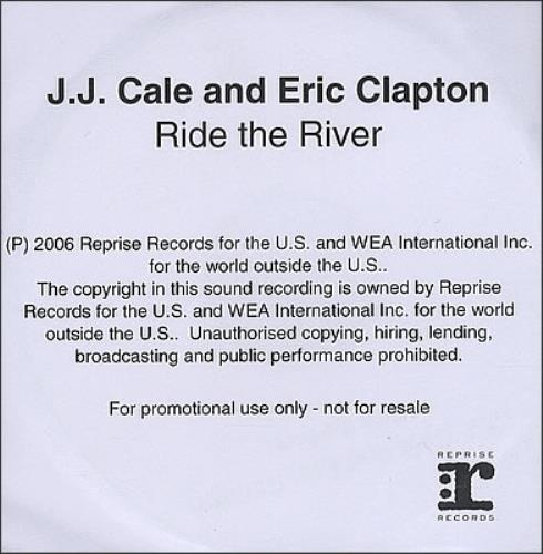 Eric Clapton Ride The River CD-R acetate UK CLPCRRI382443