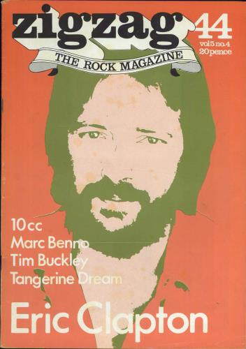 Eric Clapton Zig Zag Magazine No. 44 magazine UK CLPMAZI767700