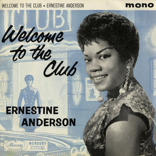 "Ernestine Anderson Welcome To The Club EP 7"" vinyl single (7 inch record) UK 4EA07WE481048"