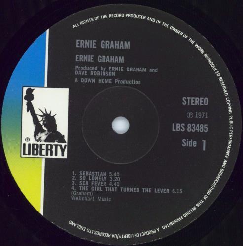 Ernie Graham Ernie Graham - Textured Sleeve vinyl LP album (LP record) UK EGHLPER773552