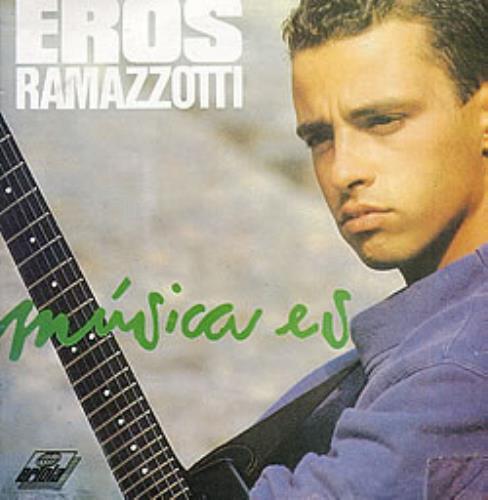 Eros Ramazzotti Musica Es vinyl LP album (LP record) Colombian ERZLPMU264065