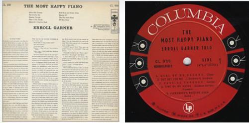 Erroll Garner The Most Happy Piano vinyl LP album (LP record) US EA7LPTH361474