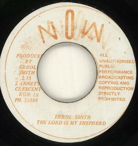 "Errol Smith The Lord Is My Shepherd / Lazy Mood 7"" vinyl single (7 inch record) Jamaican ZR707TH716479"